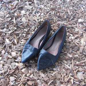 Jeffrey Campbell Black Sheedy Flats Size 6.5-7